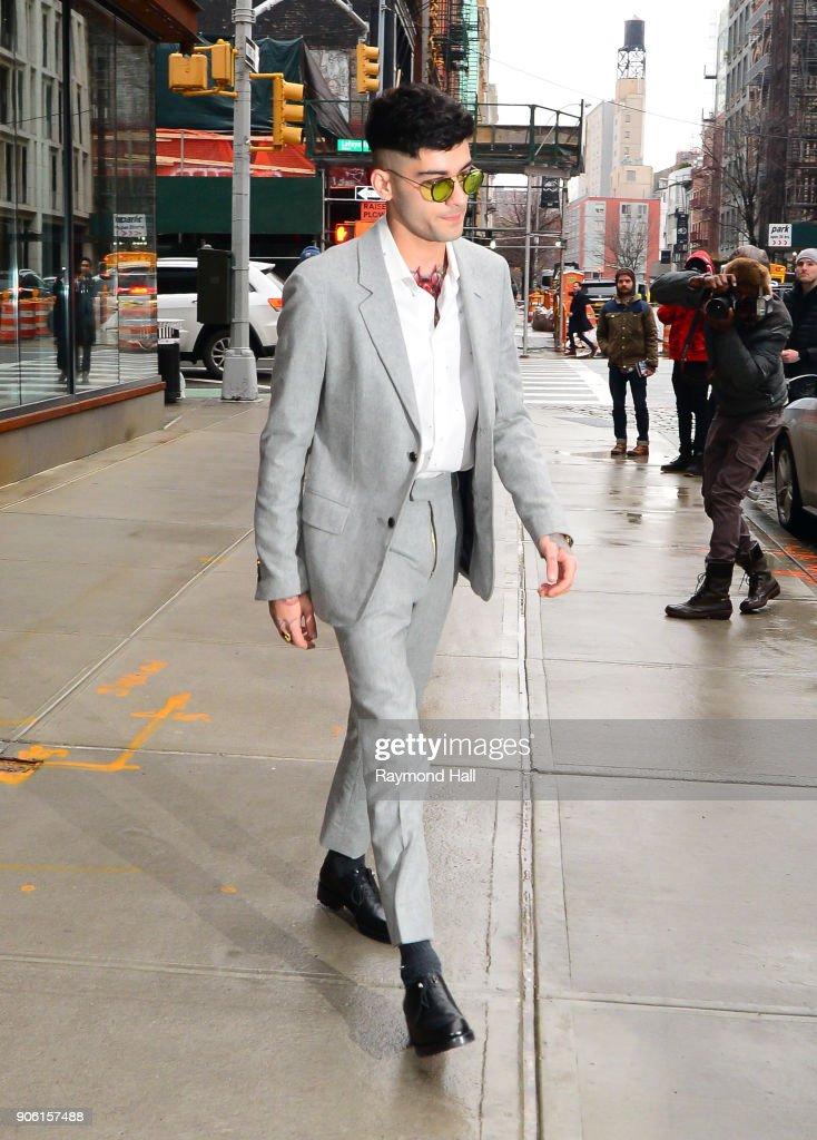 Celebrity Sightings in New York City - January 17, 2018