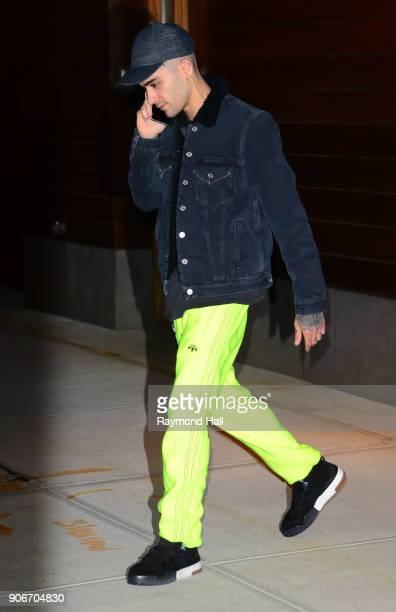 Singer Zayn Malik is seen walking in Soho on January 18 2018 in New York City