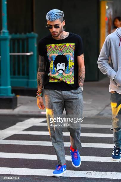 Singer Zayn Malik is seen walking in soho on June 28 2018 in New York City