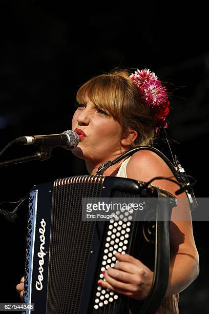 """Singer Zaza Fournier performs on stage during the """"Musik'Elles"""" Festival in Meaux."""
