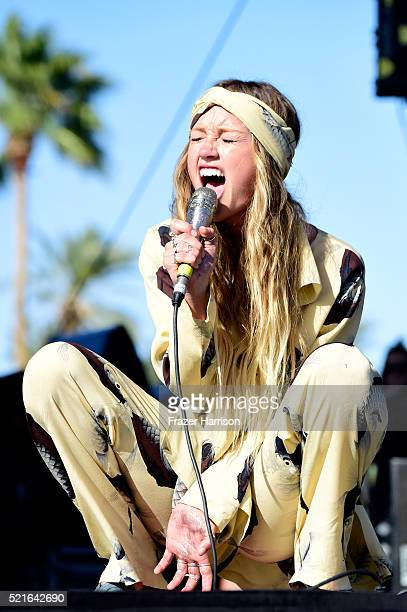 Singer Zella Day performs onstage during day 2 of the 2016 Coachella Valley Music Arts Festival Weekend 1 at the Empire Polo Club on April 16 2016 in...