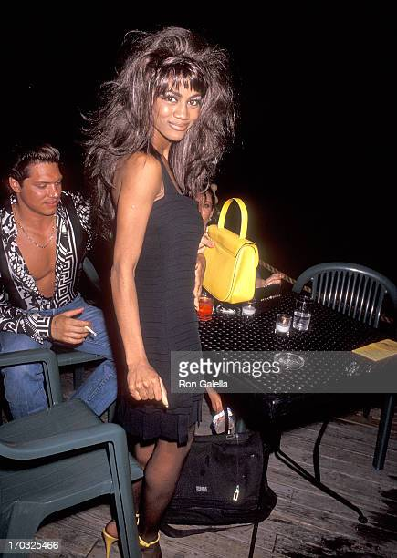 Singer Zelma Davis of C C Music Factory attends the First Annual 'Boathouse Rock' Dance Party to Benefit amfAR on June 29 1992 at the Central Park...