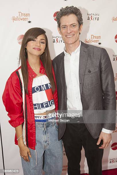 Singer Zendaya and CEO of Keep a Child Alive Peter Twyman attend Keep A Child Alive's 20th Annual Dream Halloween - Red Carpet at Barker Hangar on...