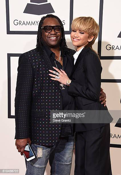 Singer Zendaya and Kazembe Ajamu Coleman attends The 58th GRAMMY Awards at Staples Center on February 15 2016 in Los Angeles California