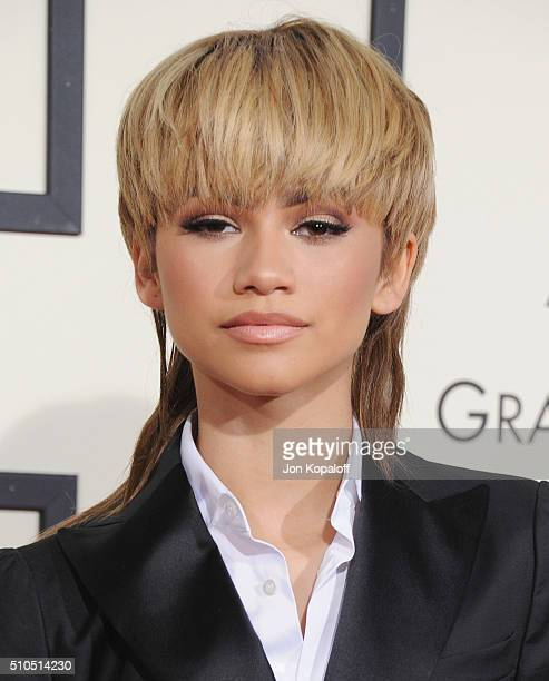 Singer Zendaya arrives at The 58th GRAMMY Awards at Staples Center on February 15, 2016 in Los Angeles, California.