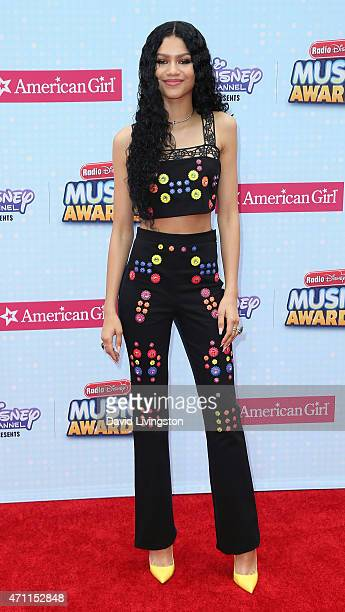 Singer Zendaya attends the 2015 Radio Disney Music Awards at Nokia Theatre LA Live on April 25 2015 in Los Angeles California
