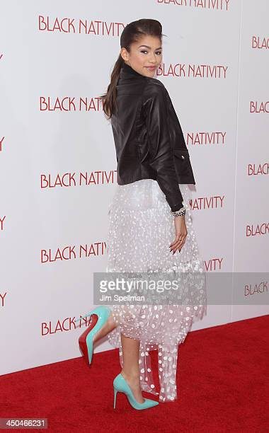 Singer Zendaya attends the Black Nativity premiere at The Apollo Theater on November 18 2013 in New York City