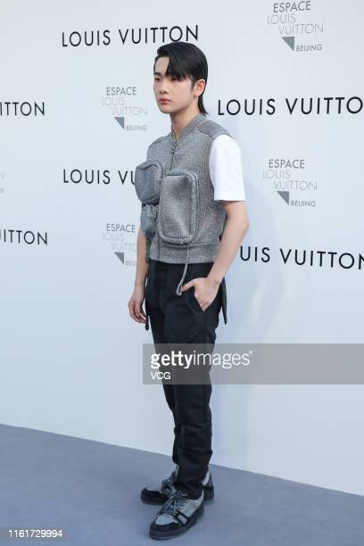 Singer Zhou Zhennan attends Louis Vuitton Coming of Age exhibition on July 12 2019 in Beijing China