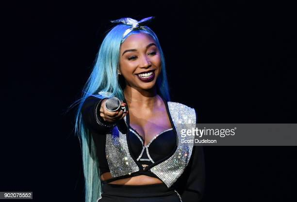 Singer Zonnique performs onstage during the Great Xscape Tour at Microsoft Theater on January 6 2018 in Los Angeles California