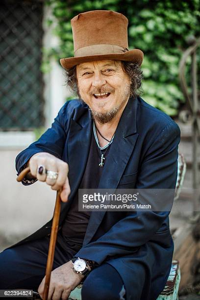 Singer Zucchero Fornaciari is photographed for Paris Match on May 6 2016 in Pontremoli Italy