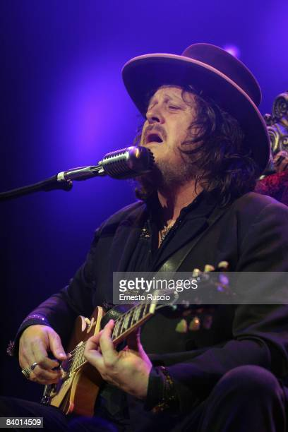 Singer Zucchero Sugar Formaciari performs on stage at the Palalottomatica on December 12 2008 in Rome Italy