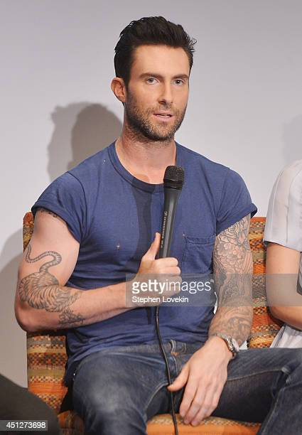 Singer/actor Adam Levine attends the 'Begin Again' press conference at Crosby Street Hotel on June 26 2014 in New York City