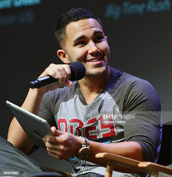 Singer/actor Carlos Pena Jr of Big Time Rush attends the Meet the App Developer SEGA's GO DANCE event at Apple Store Soho on September 17 2013 in New...
