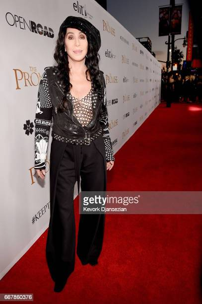 Singer/actor Cher attends the premiere of Open Road Films' 'The Promise' at TCL Chinese Theatre on April 12 2017 in Hollywood California