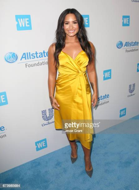 Singer/actor Demi Lovato attends WE Day California to celebrate young people changing the world at The Forum on April 27 2017 in Inglewood California