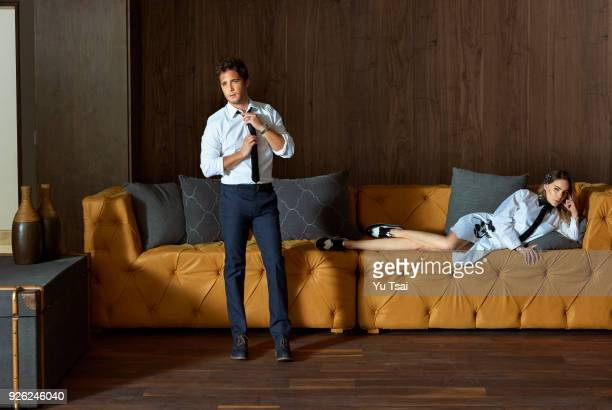 Singer/actor Diego Boneta and singer/actress Belinda are photographed for Vanity Fair Mexico on August 3 2016 in Mexico City Mexico PUBLISHED IMAGE