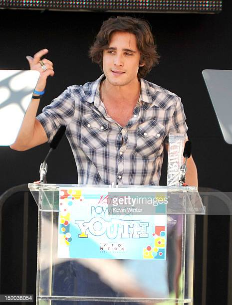 Singer/actor Diego Boneta onstage at Variety's Power of Youth presented by Cartoon Network held at Paramount Studios on September 15 2012 in...