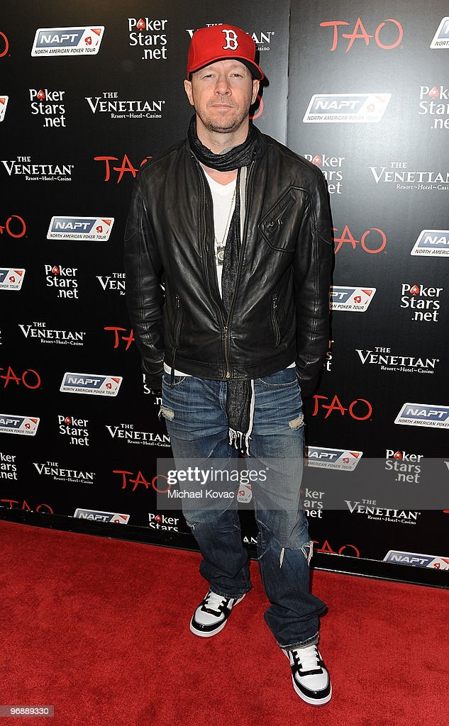 Singer/actor Donnie Wahlberg attends the Pokerstars.net after party with performance by T-Pain at TAO Nightclub at the Venetian on February 19, 2010 in Las Vegas, Nevada.