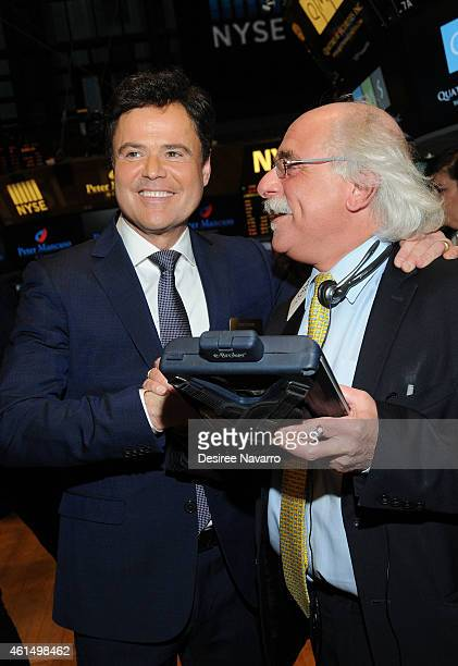 Singer/actor Donny Osmond rings The NYSE Closing Bell at New York Stock Exchange on January 13 2015 in New York City