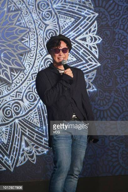Singer/actor Eason Chan attends the press conference of UniversaLOVEason on August 3 2018 in Hong Kong China