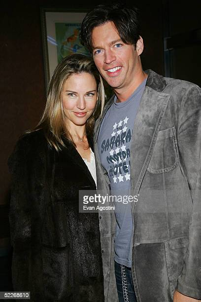 Singer/actor Harry Connick Jr and wife Jill Goodacre attend the premiere of Showtime's Fat Actress at Clearview Chelsea West Cinemas on March 2 2005...