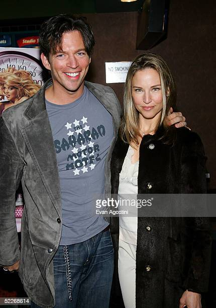 Singer/actor Harry Connick Jr and wife Jill Goodacre attend the premiere of Showtime's Fat Actress at Clearview Chelsea West Cinemas March 2 2005 in...