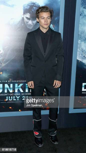 Singer/actor Harry Styles attends the DUNKIRK New York premiere at AMC Lincoln Square IMAX on July 18 2017 in New York City