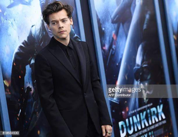 Singer/actor Harry Styles attends the Warner Bros Pictures 'DUNKIRK' US premiere at AMC Loews Lincoln Square on July 18 2017 in New York City / AFP...