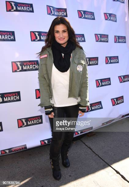 Singer/actor Idina Menzel at 2018 Women's March Los Angeles at Pershing Square on January 20 2018 in Los Angeles California