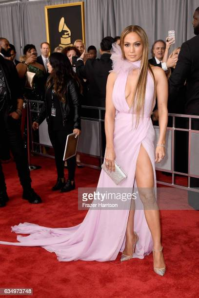 Singer/actor Jennifer Lopez attends The 59th GRAMMY Awards at STAPLES Center on February 12 2017 in Los Angeles California