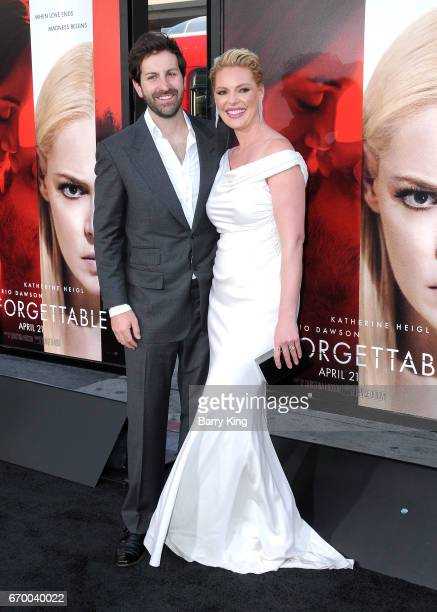 Singer/actor Josh Kelley and actress Katherine Heigl attend premiere of Warner Bros Pictures' 'Unforgettable' at TCL Chinese Theatre on April 18 2017...