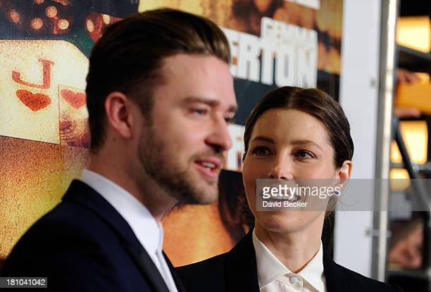 Singer/actor Justin Timberlake and his wife actress Jessica Biel arrive at the world premiere of Twentieth Century Fox and New Regency's film Runner...