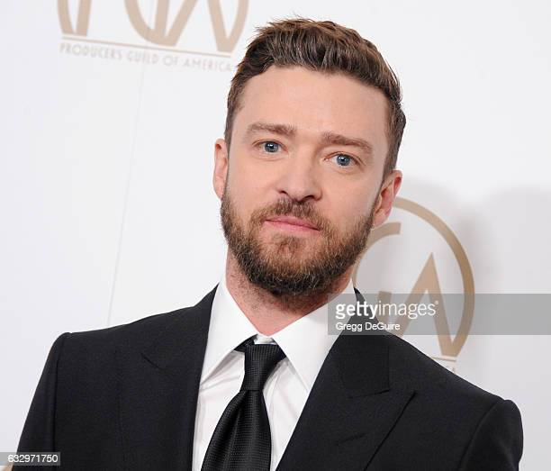 Singer/actor Justin Timberlake arrives at the 28th Annual Producers Guild Awards at The Beverly Hilton Hotel on January 28 2017 in Beverly Hills...