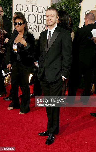 Singer/actor Justin Timberlake arrives at the 64th Annual Golden Globe Awards at the Beverly Hilton on January 15 2007 in Beverly Hills California
