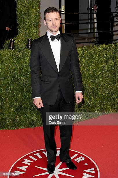 Singer/actor Justin Timberlake arrives at the Vanity Fair Oscar party hosted by Graydon Carter held at Sunset Tower on February 27 2011 in West...