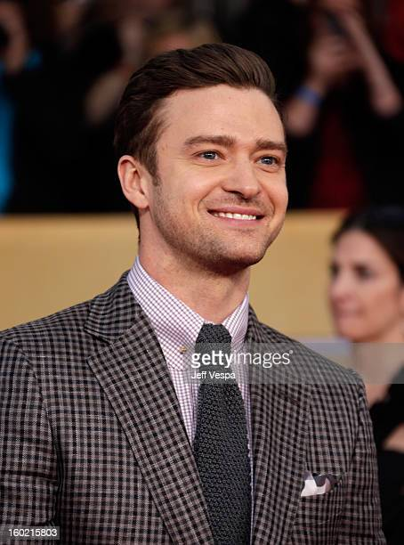 Singer/Actor Justin Timberlake arrives at the19th Annual Screen Actors Guild Awards held at The Shrine Auditorium on January 27 2013 in Los Angeles...