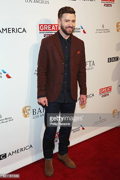 Singer/actor Justin Timberlake attends The BAFTA Tea Party at Four Seasons Hotel Los Angeles at Beverly Hills on January 7 2017 in Los Angeles...