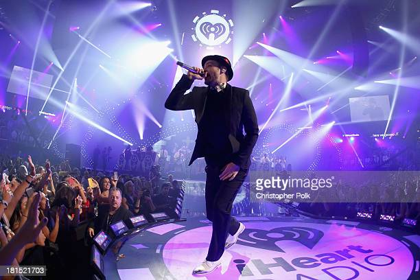 Singer/actor Justin Timberlake performs onstage during the iHeartRadio Music Festival at the MGM Grand Garden Arena on September 21, 2013 in Las...