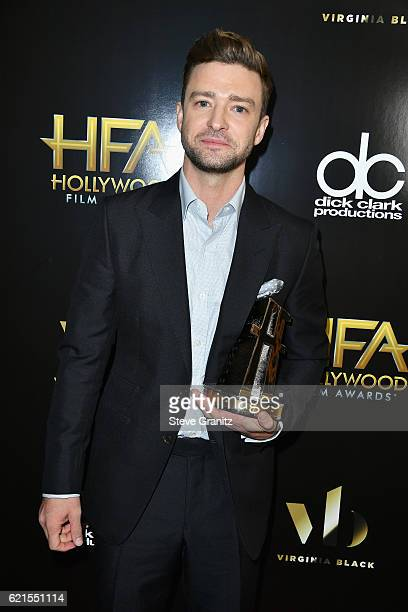 Singer/actor Justin Timberlake recipient of the Hollywood Song Award for CAN'T STOP THE FEELING poses in the press room at the 20th Annual Hollywood...