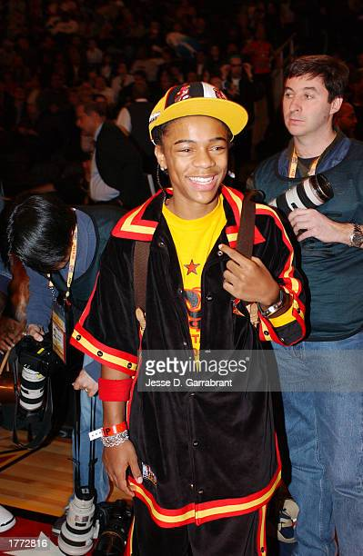 Singer/Actor Lil Bow Wow enjoys the NBA AllStar Game on February 9 2003 at the Georgia Philips Arena in Atlanta Georgia during the 2003 NBA AllStar...