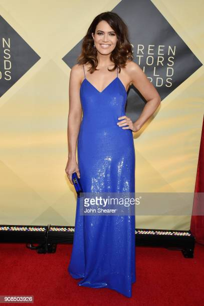 Singer/actor Mandy Moore attends the 24th Annual Screen Actors Guild Awards at The Shrine Auditorium on January 21 2018 in Los Angeles California