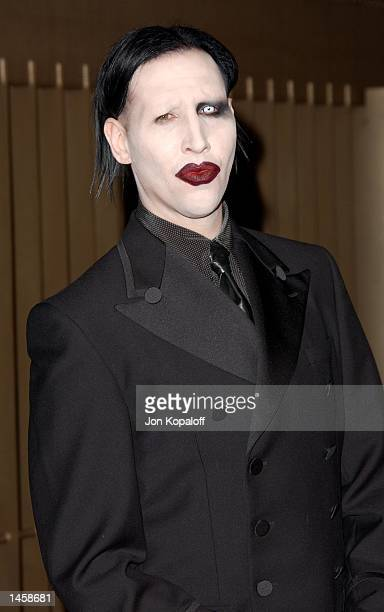 Singer/Actor Marilyn Manson attends the premiere of The Rules Of Attraction at the Egyptian Theatre on October 3 2002 in Hollywood California