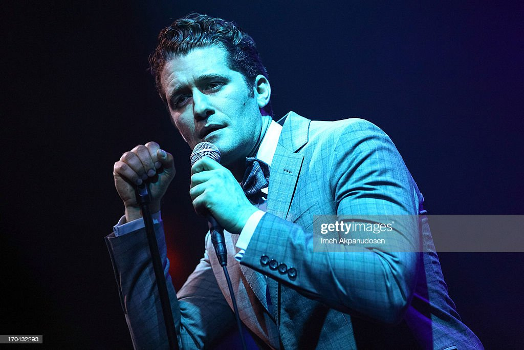 Singer/actor Matthew Morrison performs at The Sayers Club on June 12, 2013 in Hollywood, California.