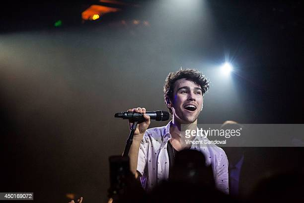 Singer/actor Max Schneider performs at Troubadour on June 5 2014 in West Hollywood California