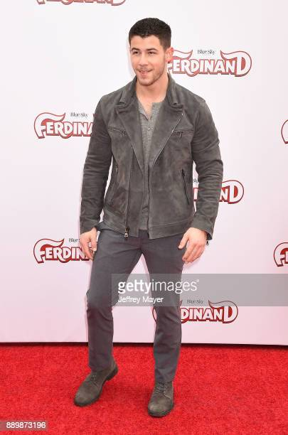 Singer/actor Nick Jonas arrives at a screening of 20th Century Fox's 'Ferdinand' at the Zanuck Theater at 20th Century Fox Lot on December 10 2017 in...
