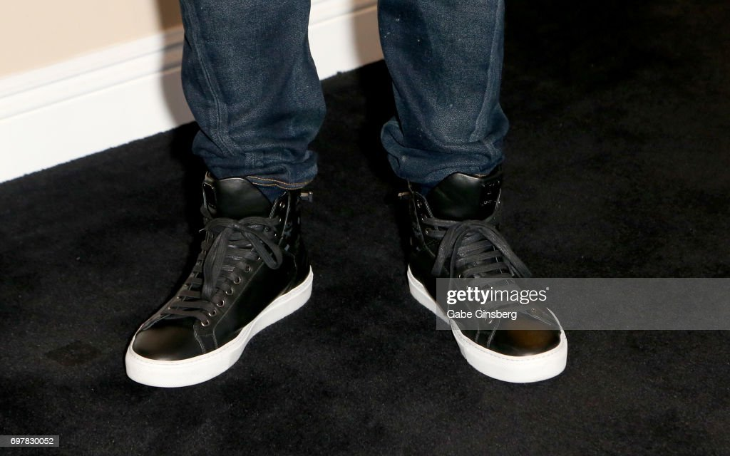 Singer/actor Ray J, shoes detail, attends a meet-and-greet for the 'Homes 4 Heroes' television project on June 19, 2017 in Las Vegas, Nevada.