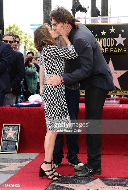 Singer/actor Rick Springfield and wife Barbara Porter attend the ceremony honoring Rick Springfield with a Star on The Hollywood Walk of Fame on May...
