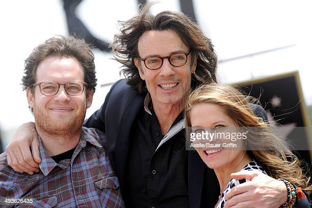 Singer/actor Rick Springfield son Joshua Springthorpe and wife Barbara Porter attend the ceremony honoring Rick Springfield with a Star on The...