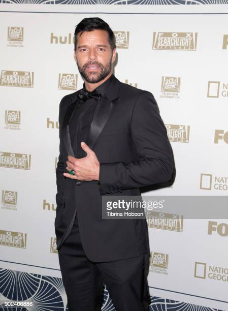 Singer/actor Ricky Martin attends FOX FX and Hulu 2018 Golden Globe Awards After Party at The Beverly Hilton Hotel on January 7 2018 in Beverly Hills...
