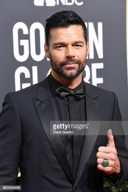 Singer/actor Ricky Martin attends The 75th Annual Golden Globe Awards at The Beverly Hilton Hotel on January 7 2018 in Beverly Hills California
